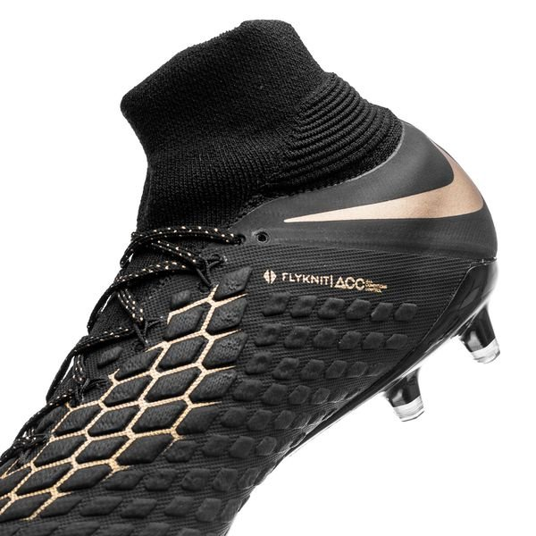 new concept 41098 50423 Nike Hypervenom Phantom 3 Elite DF FG Game of Gold - Black ...