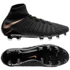 nike hypervenom phantom 3 elite df fg game of gold - noir/doré - chaussures de football