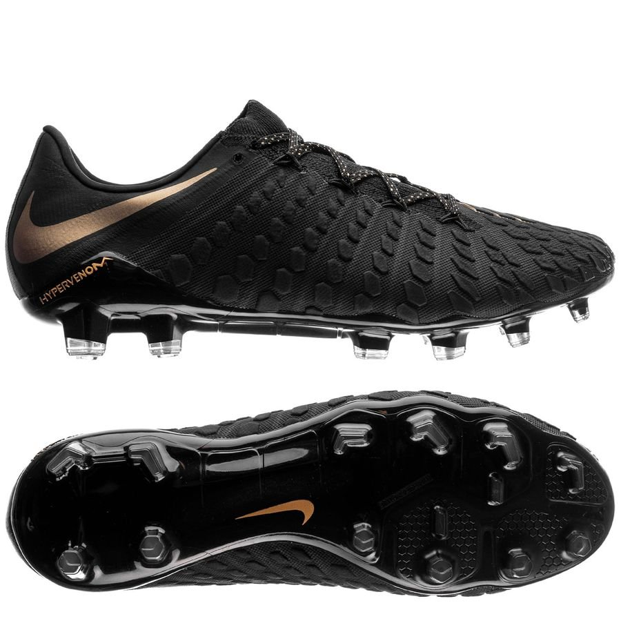 9732975150b ... top quality nike hypervenom phantom 3 elite fg game of gold black  metallic vivid gold 07db4