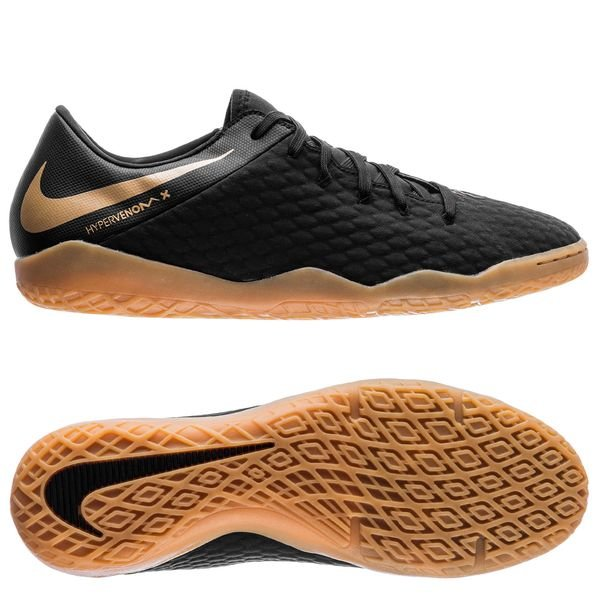 new arrival 98d76 3c7e8 Nike Hypervenom PhantomX 3 Academy IC Game of Gold - Black ...