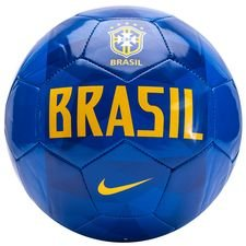 brasilien fodbold supporter - blå/guld - fodbolde