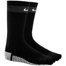 nike fodboldsokker nikegrip lightweight crew just do it - sort/grå - sokker