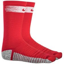 Nike Voetbalkousen NikeGRIP Lightweight Crew Just Do It - Rood/Wit