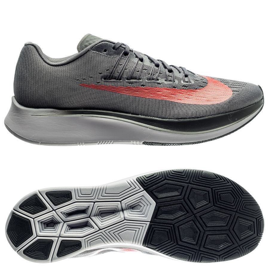 Nike Chaussures de Running Zoom Fly - Gris/Rouge