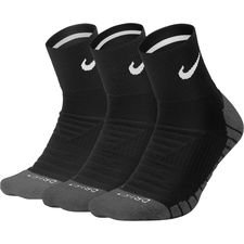 nike ankle socks everyday max cushion 3-pack - black/anthracite - socks