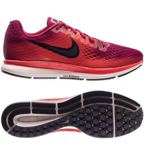 6d20194d986 Nike Chaussures de Running Air Zoom Pegasus 34 - Bordeaux Noir Rouge Phantom