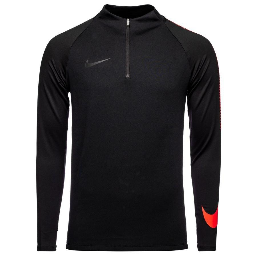 Nike Maillot d'Entraînement Dry Squad Drill Top - Noir/Rouge foncé Enfant