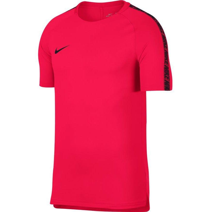 new concept feeaa ef5bc nike tränings t-shirt breathe squad - röd svart - träningsöverdel ...