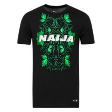 Nigeria T-shirt Squad Africa Cup of Nations 19 - Zwart/Groen