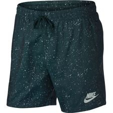 nike shorts nsw woven flow aop - deep jungle/barely grey - shorts