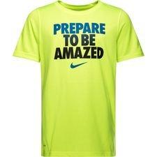 nike trænings t-shirt dry - neon børn - t-shirts
