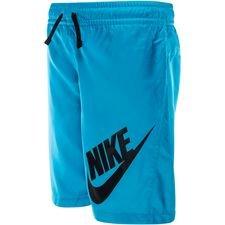 nike shorts nsw - blå/sort børn - træningsshorts