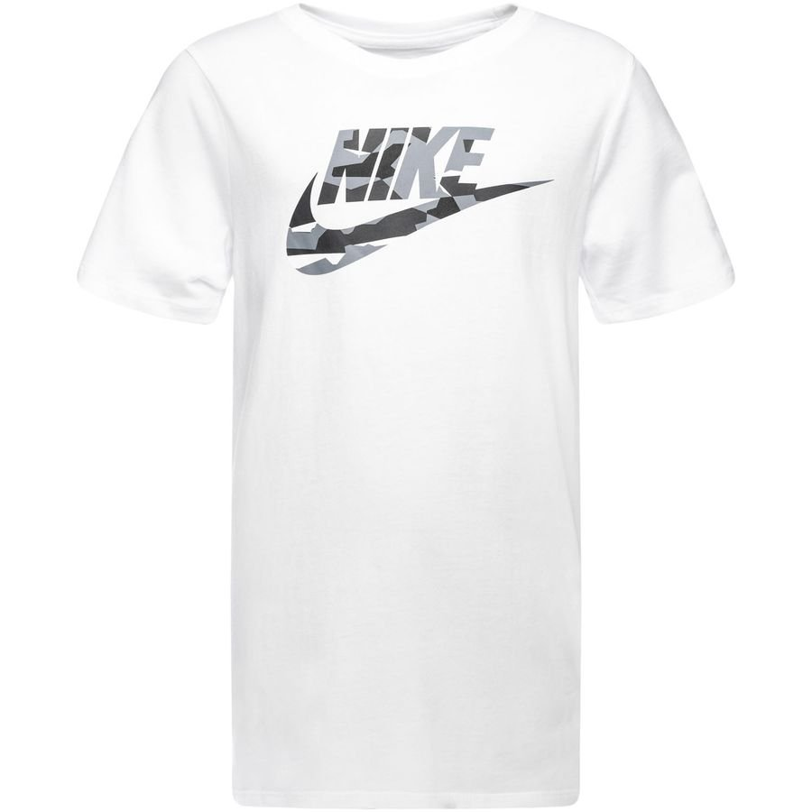 Nike T Shirt NSW Camo VitGrå Barn