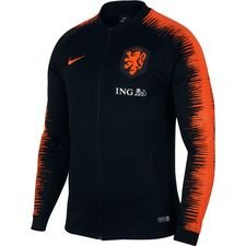 Nederland Trainingsjas Anthem - Zwart/Oranje