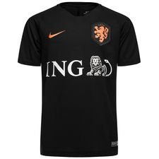 holland training t-shirt breathe squad - black/safety orange kids - t-shirts