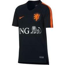 Nederland Trainingsshirt Breathe Squad - Zwart/Oranje Kinderen