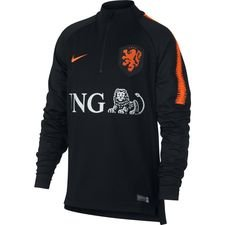 Nederland Trainingsshirt Dry Squad Drill - Zwart/Oranje Kinderen