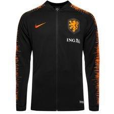 holland træningsjakke anthem - sort/orange børn - træningsjakke
