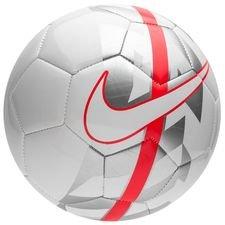 nike fodbold react - hvid/sølv - fodbolde