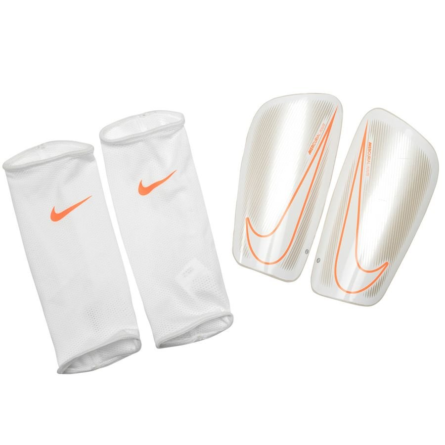Nike Protège-Tibias Mercurial Flylite Guard Just Do It - Blanc/Orange
