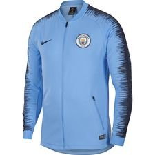 manchester city training jacket anthem - blue/midnight navy - jackets