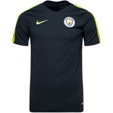 manchester city training t-shirt breathe squad - dark obsidian/volt kids - training tops