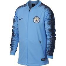 manchester city veste d'entraînement anthem - bleu/bleu marine enfant - vestes