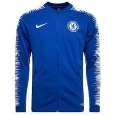 chelsea træningsjakke anthem - blå/hvid - træningsjakke