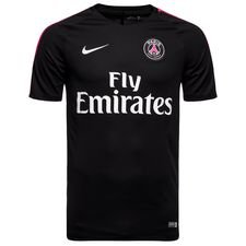 Paris Saint-Germain Training T-Shirt Breathe Squad - Schwarz/Pink Kinder