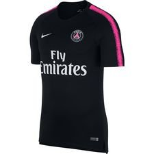 paris saint germain training t-shirt breathe squad - black/hyper pink kids - training tops