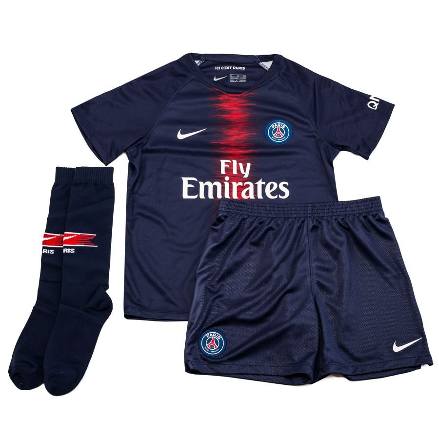 b18fd3d96 paris saint germain home shirt 2018 19 mini-kit kids - football shirts ...
