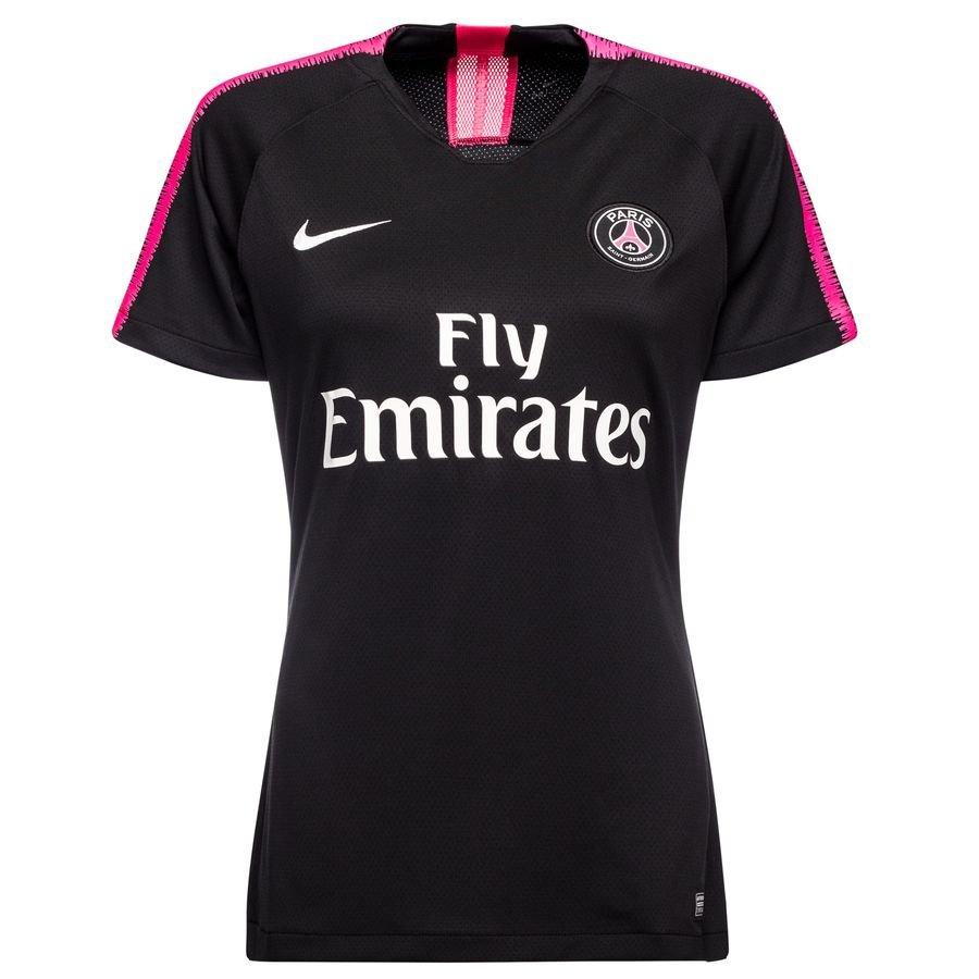 Paris Saint-Germain T-shirt d'Entraînement Dry Squad - Noir/Rose Femme