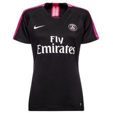 paris saint germain training t-shirt dry squad - black/hyper pink women - training tops