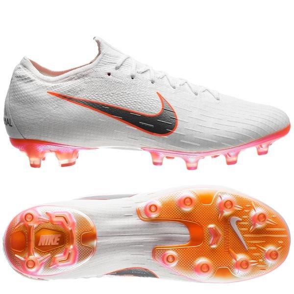 5b9bf328293 Nike Mercurial Vapor 12 Elite AG-PRO Just Do It - Blanc/Orange | www ...