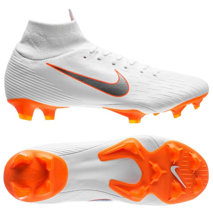 Nike Mercurial Superfly 6 Pro FG - Hvid/Orange