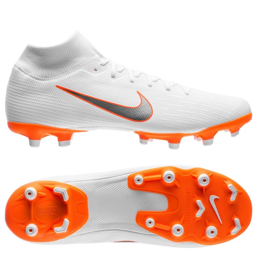 Nike Mercurial Superfly 6 Academy MG - Hvid/Orange