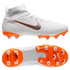 nike mercurial superfly 6 academy mg just do it - white/total orange kids - football boots