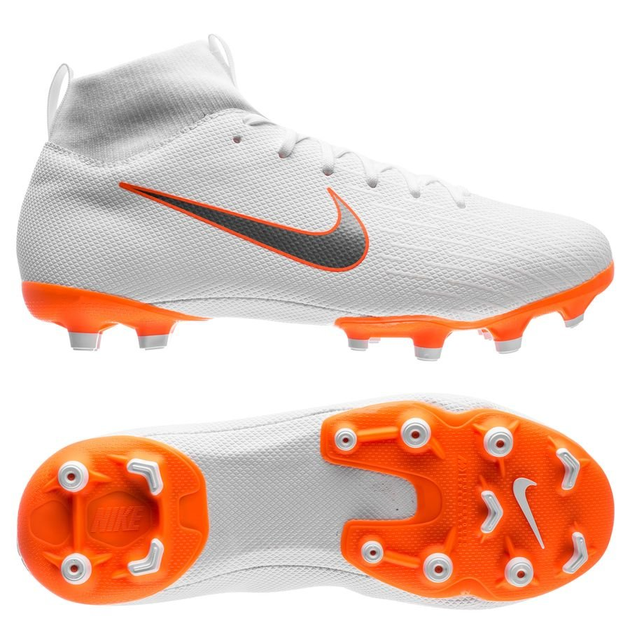 Nike Mercurial Academy Superfly 6 Mg Faire Juste - Wit / Kinderen Oranje TH3rDo