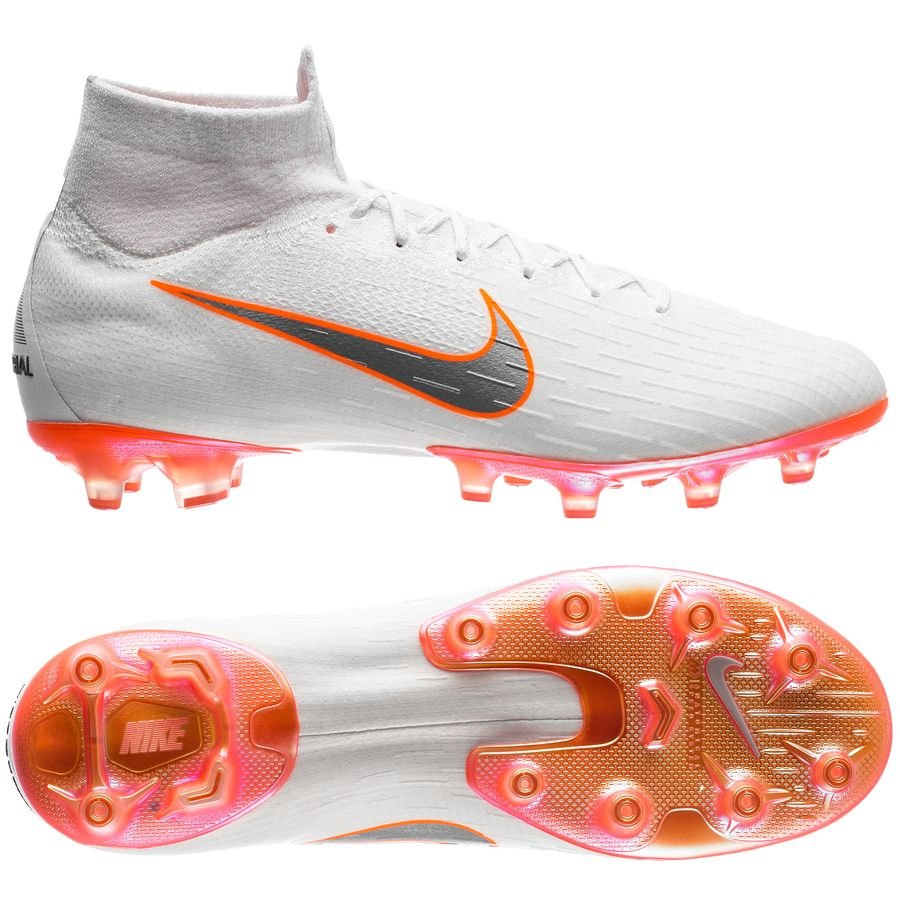 Nike Mercurial Superfly 6 Elite AG-Pro - Hvid/Orange