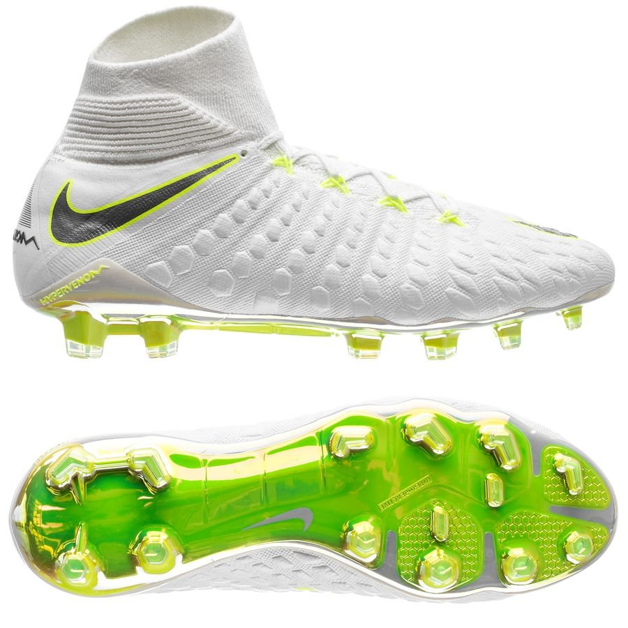 nike hypervenom phantom 3 elite df fg just do it - white volt - football ... 07ef40a446fcf