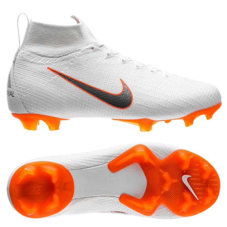 Nike Mercurial Superfly 6 Elite FG Just Do It - Blanc/Orange Enfant