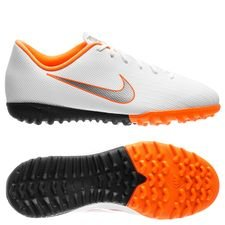 Nike Mercurial VaporX 12 Academy TF Just Do It - Wit/Oranje Kinderen