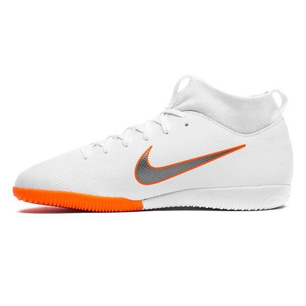 new arrivals b84b8 b4d1e ... new arrivals nike mercurial superflyx 6 academy ic just do it hvit  oransje barn innendørssko 61603
