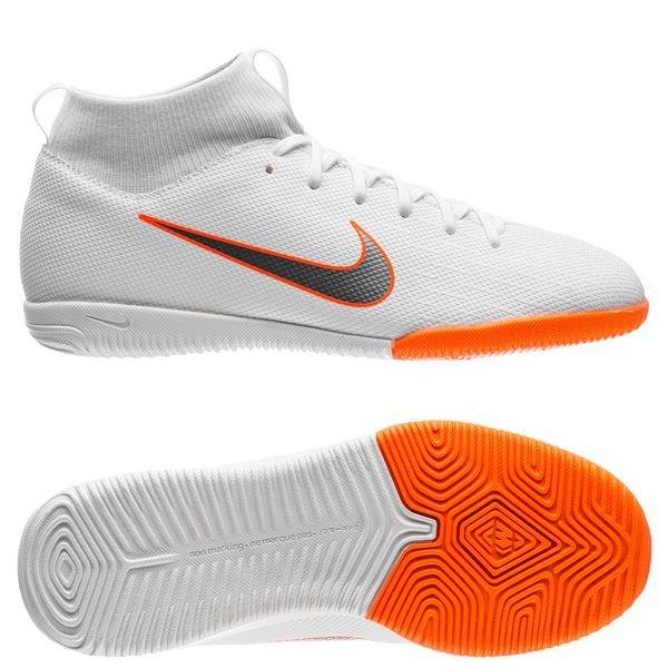 Nike Mercurial SuperflyX 6 Academy IC Just Do It BlancOrange Enfant