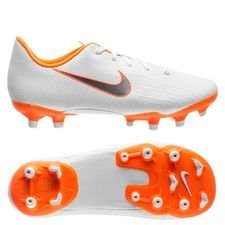 Nike Mercurial Vapor 12 Academy MG Just Do It - Wit/Oranje Kinderen