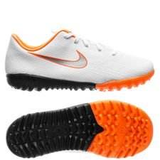 Nike Mercurial VaporX 12 Academy TF Just Do It - Wit/Grijs Kinderen