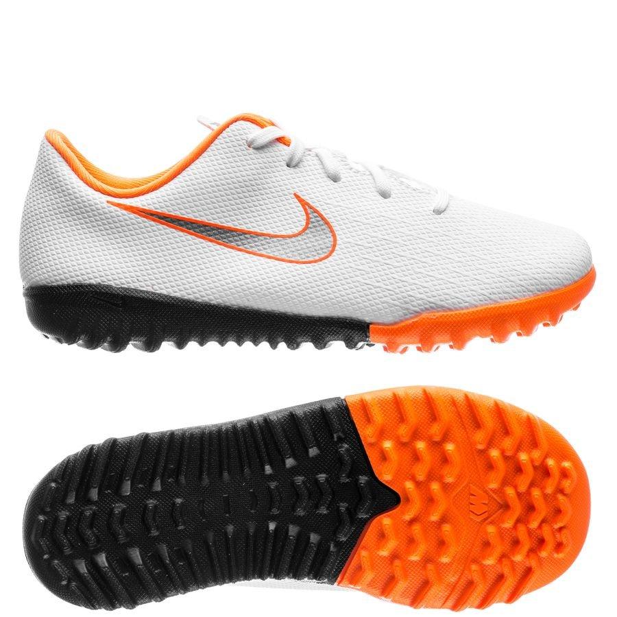 Nike Mercurial VaporX 12 Academy TF Just Do It - Hvid/Grå Børn