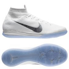 Nike Mercurial SuperflyX 6 Elite IC Just Do It - Blanc/Gris Métallique