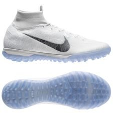 nike mercurial superflyx 6 elite tf just do it - white/metallic cool grey - football boots