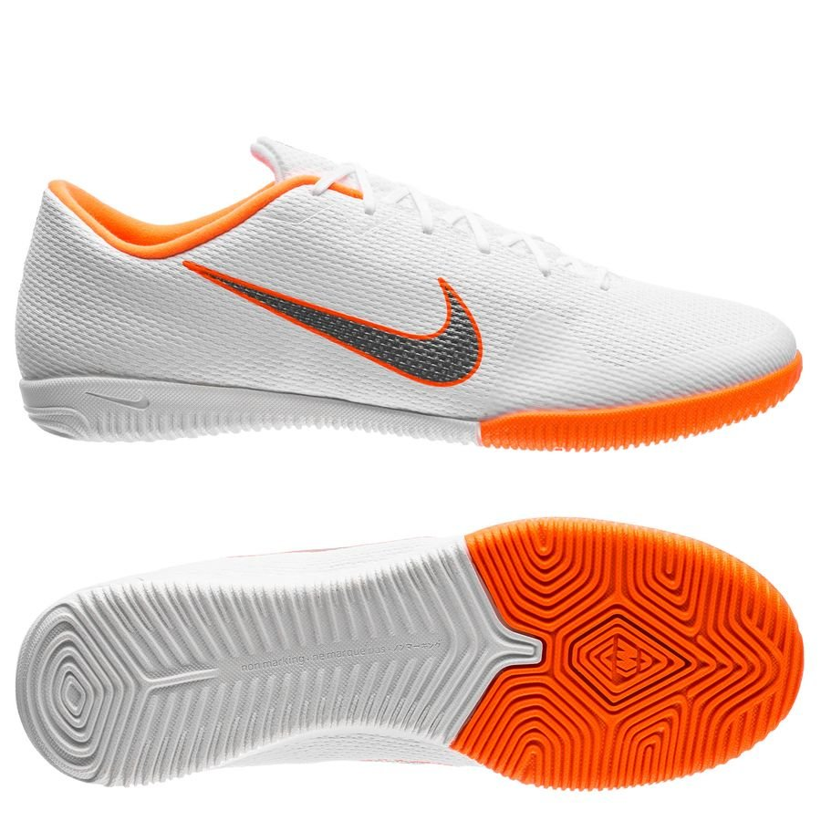 Nike Mercurial VaporX 12 Academy IC Just Do It - Blanc/Gris/Orange